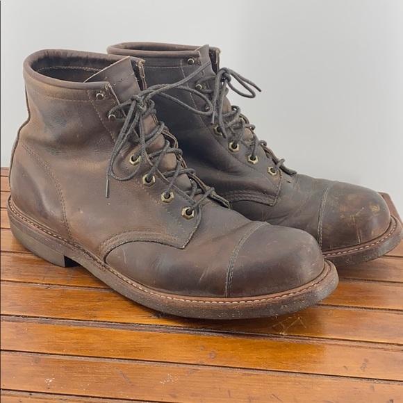 Vintage Chippewa Cap Toe Engineer Boot